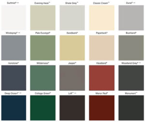 colorbond colour chart, colorbond roofing