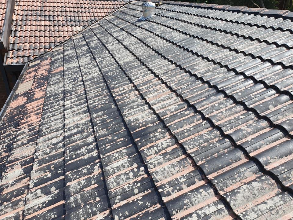 damaged tiled roof