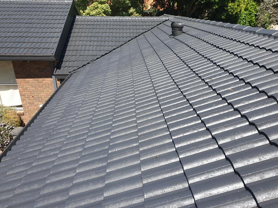 re painted roof, roof resto tiled grey rowville