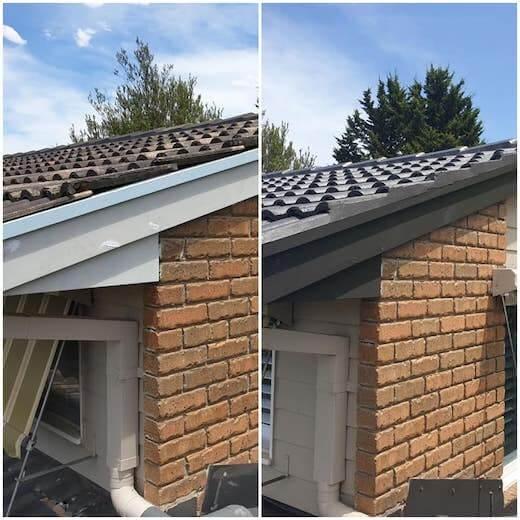 roof restoration melbourne tiled roof, before and after