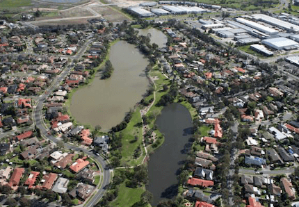 rowville from above